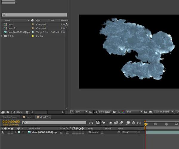 3dmax sakhtan abr37 - ایجاد ابرهای واقعی در تری دی مکس با استفاده از Particle Flow و AfterBurn