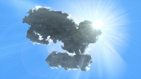 3dmax sakhtan abr45a - ایجاد ابرهای واقعی در تری دی مکس با استفاده از Particle Flow و AfterBurn