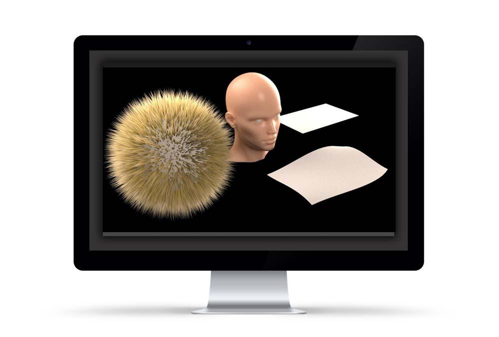 بررسی ساخت متریال مو در وی ری