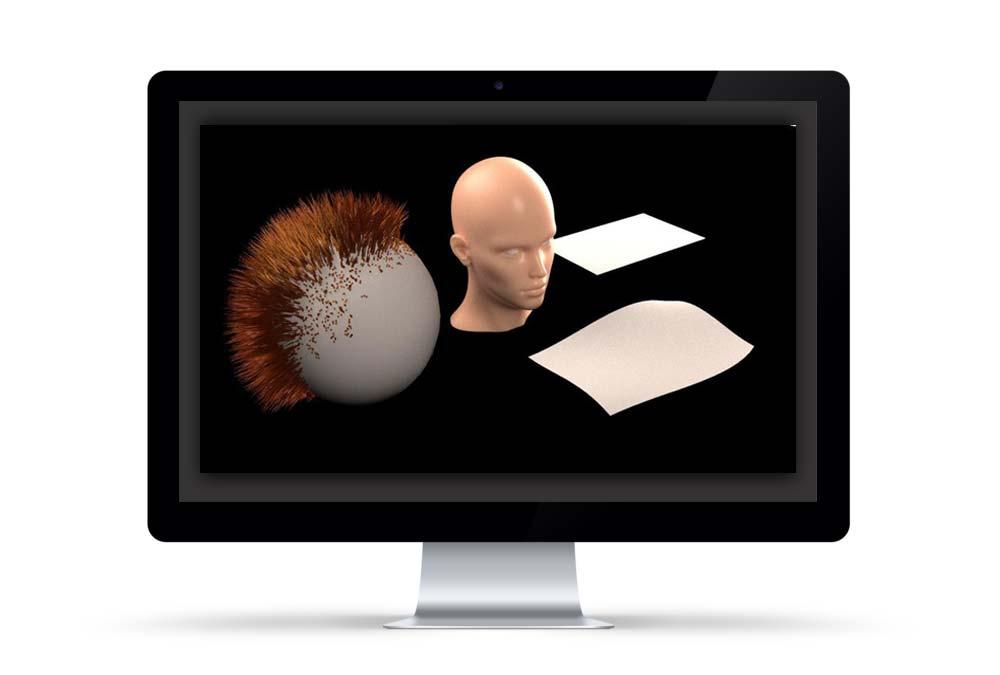 ساخت متریال مو در وی ری