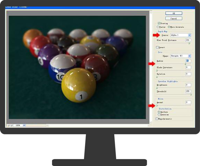 3dmax photoshop10 - ایجاد عمق میدان در تری دی مکس و فتوشاپ