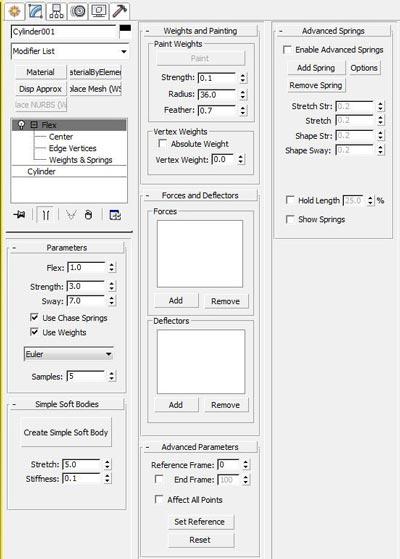 Introducing the modifier - مدیفایر flex در تری دی مکس