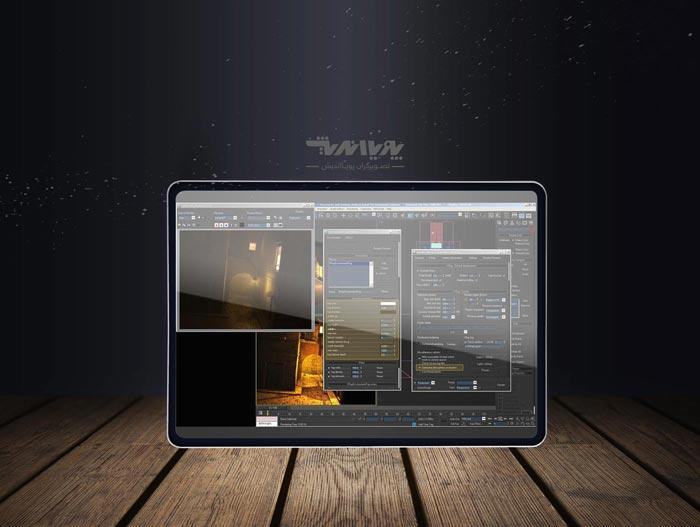 window lighting vrya m - ایجاد مه و غبار در شب با تری دی مکس
