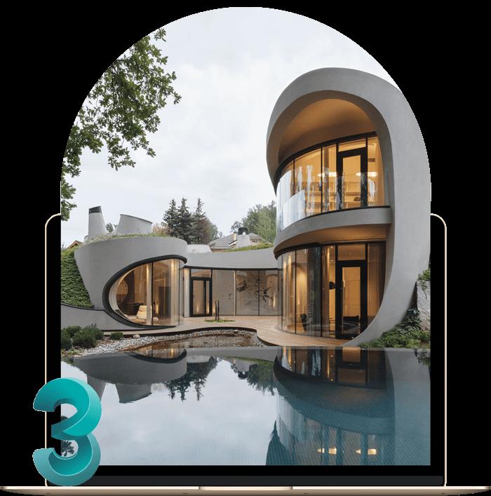 استفاده از تری دی مکس در معماری