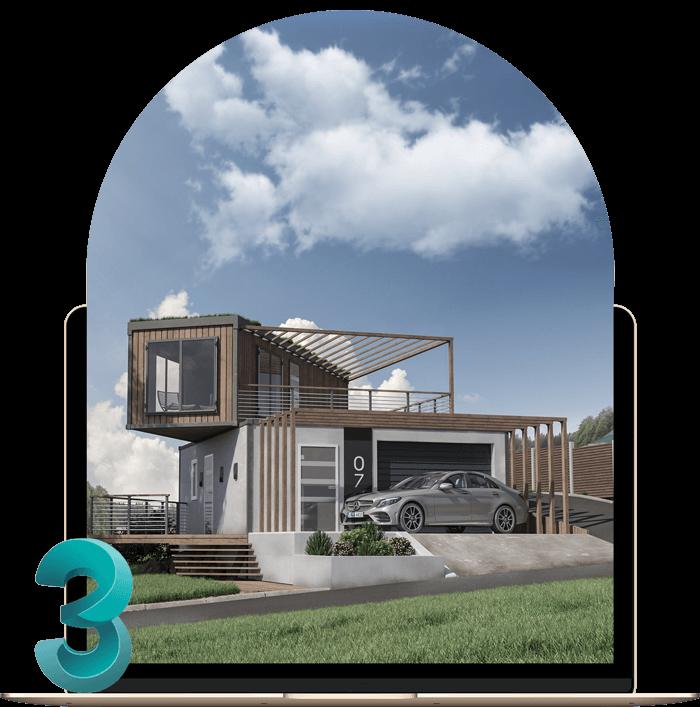 کاربرد تری دی مکس در دنیای معماری