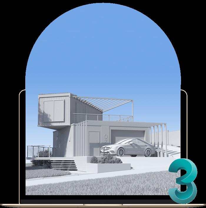 مدل سازی سه بعدی در معماری با تری دی مکس