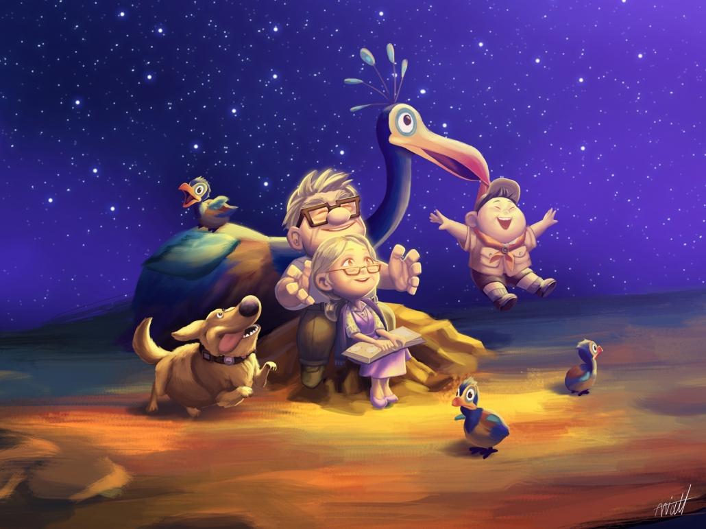 disney pixar up   dream together by miacat7 d8b2jf3 1030x771 - انیمیشن های تولید شده توسط استودیو pixar