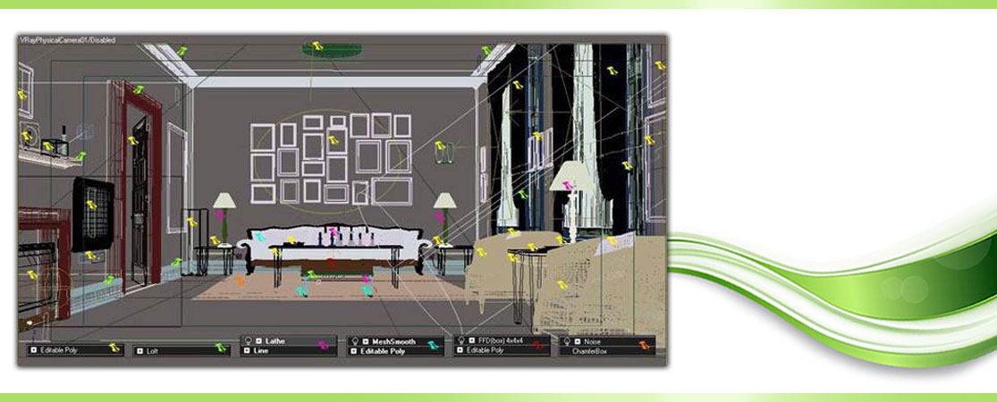 Making Classic Living Room using 3D 7 - مدلسازی اتاق خواب در تری دی مکس