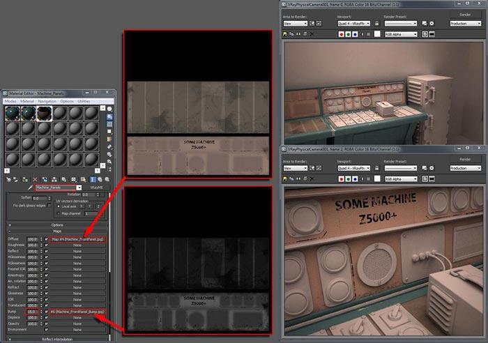 create realistic shaders step 16 - نحوه ایجاد شیدر در تری دی مکس