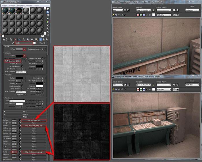 create realistic shaders step 17 - نحوه ایجاد شیدر در تری دی مکس