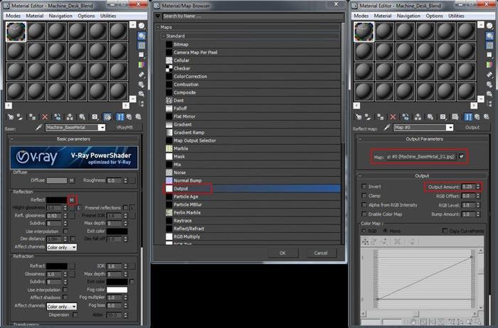 create realistic shaders step 8 - نحوه ایجاد شیدر در تری دی مکس