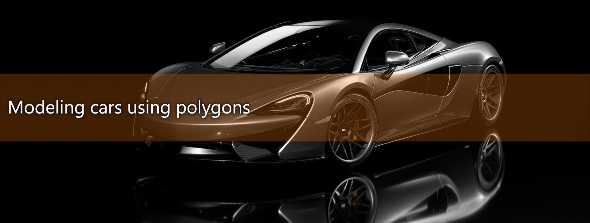 modeling using polygons car 3ds max maya2 1 - مدلسازی خودرو در تری دی مکس