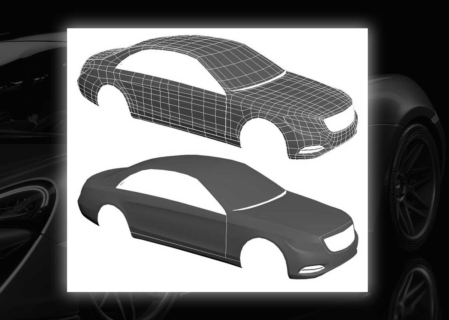 modeling using polygons car 3ds max maya20 - مدلسازی خودرو در تری دی مکس