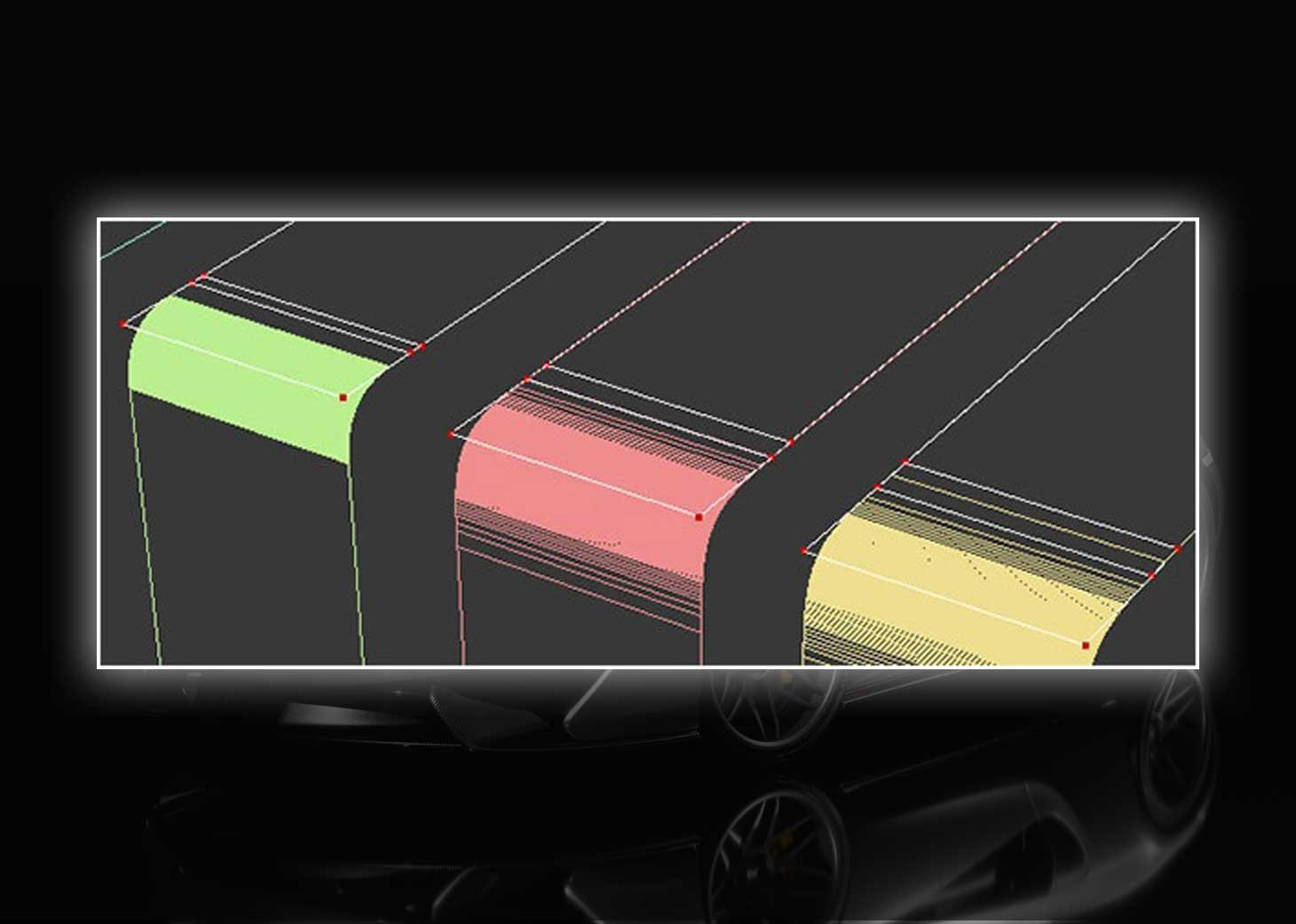 modeling using polygons car 3ds max maya7 - مدلسازی خودرو در تری دی مکس