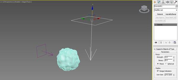 A falling ball - مدیفایر flex در تری دی مکس