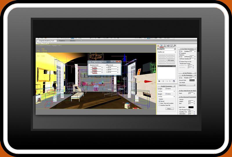 Sunset Sunrise 3d 7 - تنظیمات نور طلوع و غروب خورشید در تری دی مکس